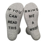 IF YOU CAN READ THIS BRING ME A WHISKY Socks Dispensing Whiskey Novelty Socks - Gray One Size