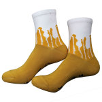 IF YOU CAN READ THIS BRING ME A BEER Letter Cotton Socks Novelty Socks - Yellow One Size