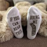 If You Can Read This Bring Me Chocolate Socks Novelty Words Ankle Socks Novelty Socks - Chocolate EU 35-45