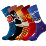Winter Men Socks Fruits Geometric Street Tide Socks Astronauts Crew Socks - Nude Astronaut EU 38-45