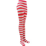 Stripe Pantyhose Halloween Long Trousers Socks - Red And Green One Size