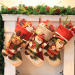 Santa Claus Christmas Gift Bags Socks Snowman Christmas Ornaments Decorative Gift Bags Candy Bags Christmas Stockings - Pine Nuts And Red Berries Christmas Deer