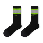 Glad Xvan Reflecting Sports Bars Ins Gypsophila Two Fluorescent Black Sled Street Socks Stockings - Blue Blue Reflective Strips EU 36-43