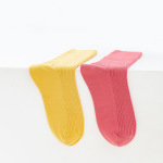 Glad Xvan Boneless Seam Double Needle Socks Casual Cotton Candy Colored Fashion Ins Wind Socks - Haoyue White EU 36-42