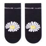 Glad Xvan 3 Pairs Boneless High-GD Right Zhilong Fashion Small Daisy Flowers Socks Boat Socks - Lightning Daisy EU 36-43