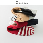 Glad Xvan 3 Pairs Fall Thin Models Sport Socks Male Socks  Minimalist Stripe Shallow Mouth Cotton Socks - Black Socks Head EU 39-44