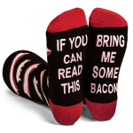 10 Pairs IF YOU Can Read This Bring Me Some Valentine's Day Gift Socks Letter Words Socks Bulk Wholesale - SOME TEA One Size