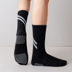 Men's Stockings Cotton Anti-slip Comfortable Breathable Sports Casual Men's Socks - Black One Size