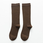 Fall Winter Men's Socks Compression Stockings Skinny Calf Socks Men Women Solid Color Stockings Long-barreled Socks - 613 Men's Coffee One Size