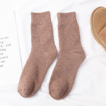 Large Size Thick Winter Wool Socks Men's Socks Plus Thick Velvet Warm Cashmere Socks Warm Socks - Ms. Orange One Size