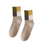 Girls Fall And Winter Socks Cotton Crew Socks And Comfortable Leisure Sports Lovers Tide Socks Long Crew Socks For Men And Women - Khaki Yellow You Can Hang