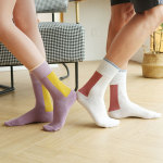 Men And Women Socks Japanese Socks Ins Tide Crew Socks Lovers Socks Street Arts Neutral Stockings - Purple You Can Hang