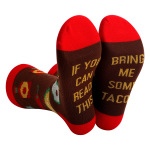 100 Pairs IF YOU CAN READ THIS BRING ME SOME Whiskey Tacos Wine Beer Crew Socks Bulk Wholesale - Coffee One Size