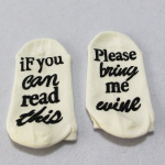 IF YOU CAN READ THIS Letter Printing Short Perspective Socks Novelty Socks - Gray - Socks One Size