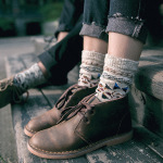 ECAO Thick Line Family Name Socks Plaid Slouch Socks For Men Women Couples - Coffee One Size