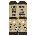 IF YOU Can Read This Socks AB Mismatched Novelty Socks - Bring Me Some Wine EU 35-45