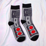 Game Handle Socks Cotton Gaming Patterned Crew Socks - Tab One Size