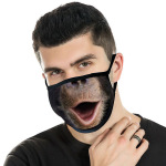 3PCS Funny 3D Printing Cloth Mask Winter Warm Dust-proof Fashion Breathable Washable Masks - Style 1