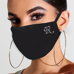 3PCS Diamond Letter Mouth Cover Masks Windproof Warm Dustproof Masks - DZFS00158-A Adult